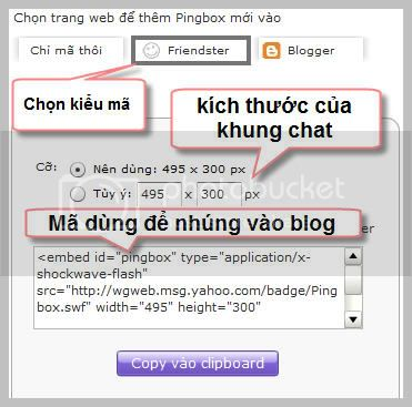 Cch nhng Yahoo! Messenger vo Blog hay web c nhn  chat online